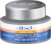 Ibd - Hard Gel - LED/UV Builder Gel - Żel budujący - 14 g - CLEAR - CLEAR