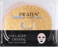 PILATEN - COLLAGEN CRYSTAL GOLD FACIAL MASK - Gold, collagen face mask - 1 pc.
