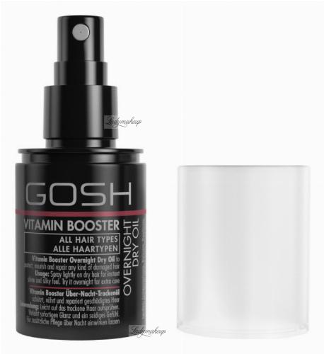 GOSH - VITAMIN BOOSTER - OVERNIGHT DRY OIL - Suchy olejek do włosów na noc - 75 ml