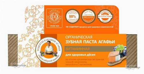 Agafia - Receptury Babuszki Agafii - Pasta do zębów - Witaminowa - 75 ml