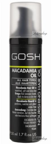 GOSH - NOURISHING MACADAMIA HAIR OIL - Głęboko rewitalizujący olejek do włosów