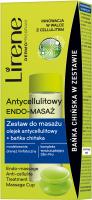 Lirene - ANTYCELLULITOWY ENDO-MASAŻ - Zestaw do masażu z olejkiem antycellulitowym i bańką chińską