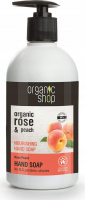 ORGANIC SHOP - NOURISHING HAND SOAP - Moisturizing liquid hand soap with rose and peach - Rose Peach - 500 ml
