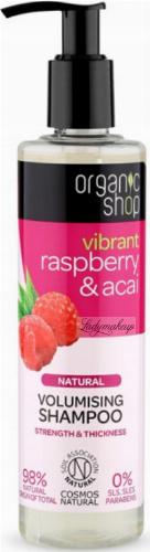 ORGANIC SHOP - NATURAL VOLUMISING SHAMPOO - Vibrant Raspberry & Acai - Zwiększający objętość szampon do włosów - Malina i jagody - 280 ml