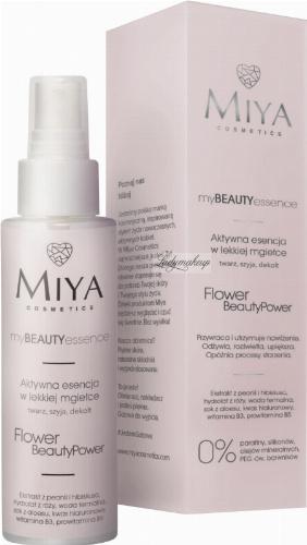 MIYA - My BEAUTY Essence - Aktywna esencja w lekkiej mgiełce do twarzy, szyi i dekoltu - Flower Beauty Power - 100 ml