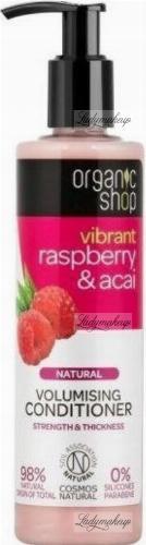 ORGANIC SHOP - Natural Volumising Conditioner- Vibrant Raspberry & Acai - Odżywka do włosów zwiększająca objętość - Malina i jagody - 280 ml