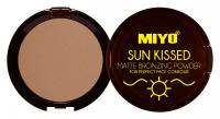 MIYO - SUN KISSED - MATTE BRONZING POWDER - Matowy puder brązujący - 02 - CHILLY BRONZE - 02 - CHILLY BRONZE