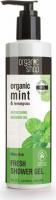 ORGANIC SHOP - FRESH SHOWER GEL - Orzeźwiający żel pod prysznic z miętą i trawą cytrynową - Minty Rain - 280 ml