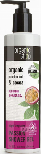 ORGANIC SHOP - PASSION ALLURING SHOWER GEL - Żel pod prysznic z marakują i kokosem - Night Temptation
