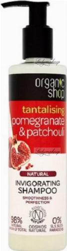 ORGANIC SHOP - NATURAL INVIGORATING SHAMPOO - Orzeźwiający szampon do włosów z granatem i paczulą - Pomegranate & Patchouli - 280 ml