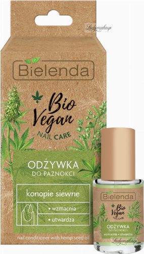 Bielenda - Bio Vegan Nail Care - Vegan nail conditioner with hemp seed - 10 ml