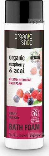 ORGANIC SHOP - VITAMIN RECHARGE BATH FOAM - Pianka do kąpieli - Berry Delight - 500 ml