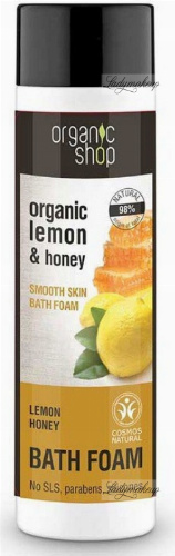 ORGANIC SHOP - BATH FOAM - Pianka do kąpieli - Lemon Honey - 500 ml