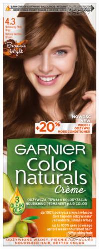 GARNIER - COLOR NATURALS Creme - Trwała, odżywcza koloryzacja do włosów - 4.3 Naturalny Złoty Brąz