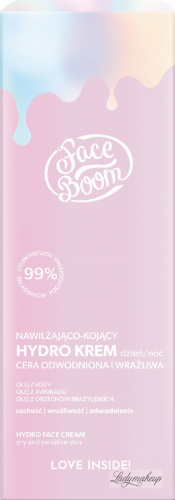 BodyBoom - Face Boom - HYDRO FACE CREAM - Hydrating and soothing hydro cream for dehydrated and sensitive skin - Day & Night - 50 ml