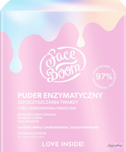 BodyBoom - Face Boom - CLEANSING POWDER - Enzymatic face cleansing powder - Dehydrated and sensitive skin - 20 g