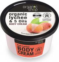 ORGANIC SHOP - BODY CREAM - Pink Lychee - Krem do ciała - Różowe liczi - 250 ml