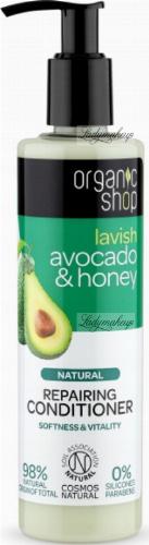 ORGANIC SHOP - NATURAL REPAIRING CONDITIONER - Regenerujący balsam / odżywka do włosów - Awokado i miód - 280 ml