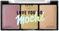 NYX Professional Makeup - LOVE YOU SO MOCHI - Highlighting Palette - Paleta rozświetlaczy - 01 LIT LIFE
