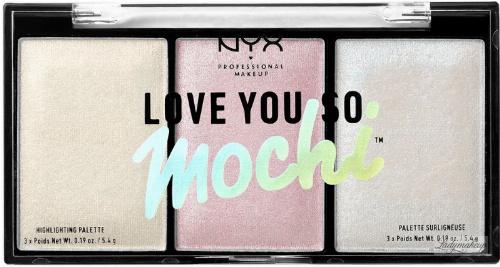 NYX Professional Makeup - LOVE YOU SO MOCHI - Highlighting Palette - Paleta rozświetlaczy - 02 ARCADE GLAM