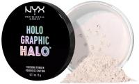 NYX Professiona Makeup - HOLO GRAPHIC HALO FINISHING POWDER - Holograficzny puder do utrwalania makijażu - 01 MERMAZING
