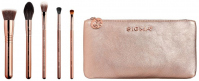Sigma® - ICONIC BRUSH SET - 5 ROSE GOLD BRUSHES + BEAUTY BAG - Zestaw 5 pędzli do makijażu + kosmetyczka