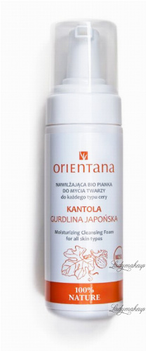 ORIENTANA - MOISTURIZING CLEANSING FOAM - Nawilżająca bio pianka do mycia twarzy - Kantola - 150 ml