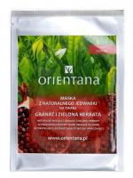 ORIENTANA - Maska z naturalnego jedwabiu na twarz - Granat i zielona herbata