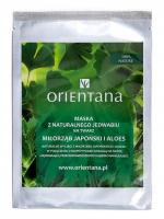 ORIENTANA - Natural silk face mask - Ginkgo biloba and aloe vera