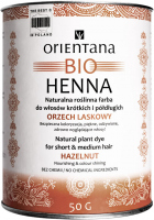ORIENTANA - BIO HENNA - 100% Natural vegetable paint for short and semi-long hair - Hazelnut - 50 g
