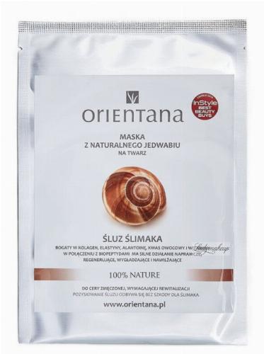 ORIENTANA - Maska z naturalnego jedwabiu na twarz - Śluz ślimaka