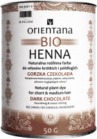 ORIENTANA - BIO HENNA - 100% Natural vegetable hair dye for short and semi-long hair - Bitter Chocolate - 50 g