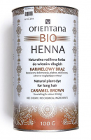 ORIENTANA - BIO HENNA - 100% Natural herbal long hair dye - Caramel Brown - 100g