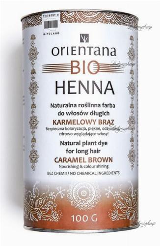 ORIENTANA - BIO HENNA - 100% Naturalna roślinna farba do włosów długich - Karmelowy Brąz - 100g