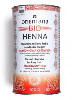 ORIENTANA - BIO HENNA - 100% Naturalna roślinna farba do włosów długich - Mahoniowa Czerwień - 100g