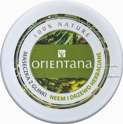 ORIENTANA - CLAY MASK - Maseczka z glinki do cery tłustej - Neem i Drzewo Herbaciane - 50 g