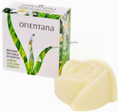 ORIENTANA - SOLID MASSAGE BAR - 100% naturalny balsam do ciała w kostce - Jaśmin i Zielona Herbata - 60 g