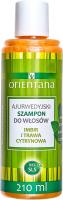 ORIENTANA - AYURVEDIC HAIR SHAMPOO - GINGER & LEMONGRASS - Ajurwedyjski szampon do włosów - Imbir i trawa cytrynowa - 210 ml