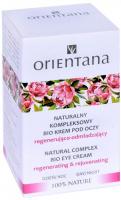 ORIENTANA - NATURAL COMPLEX BIO EYE CREAM - Naturalny kompleksowy bio krem pod oczy - Regenerująco-odmładzający - Dzień & Noc - 15 ml