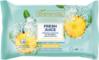 Bielenda - Micellar Care - Fresh Juice - Micelarne chusteczki do demakijażu twarzy, oczu i ust z bioaktywną wodą cytrusową - 20 szt. - ANANAS