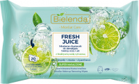 Bielenda - Micellar Care - Fresh Juice - Micellar cleansing wipes for face, eyes and lips with bioactive citrus water - 20 pcs - LIME