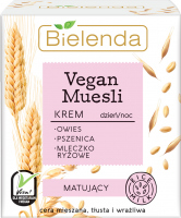 Bielenda - Vegan Muesli Cream - Mattifying face cream - Day / Night - 50 ml