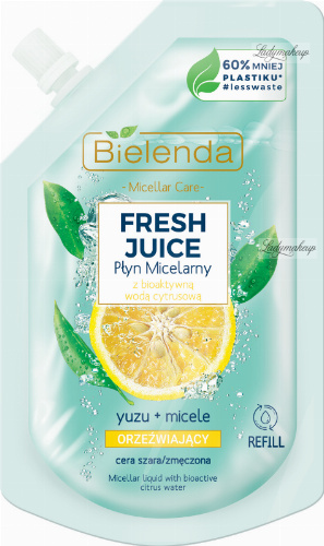 Bielenda - Micellar Care - Fresh Juice - Refreshing micellar fluid for gray and tired skin - Yuzu - INSERT - 45 ml