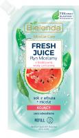 Bielenda - Micellar Care - Fresh Juice - Kojący płyn micelarny do cery odwodnionej - Arbuz - WKŁAD - 500 ml