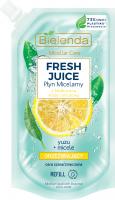 Bielenda - Micellar Care - Fresh Juice - Refreshing micellar fluid for gray and tired skin - Yuzu - INSERT - 500 ml