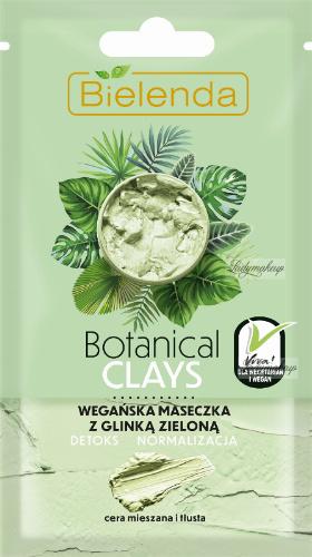 Bielenda - Botanical Clays - Vegan Face Mask - Vegan green clay mask - Mixed and oily skin - 8 g