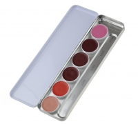 Kryolan - Lip Rouge Palette - Paleta 6 szminek do ust 1207