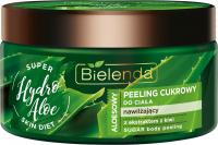 Bielenda - Super Skin Diet - Aloe Sugar Body Scrub - Aloesowy, nawilżający peeling cukrowy do ciała - Hydro Aloe - 350 g