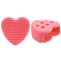 LashBrow - Mini brush washer / brush stand - Pink Heart