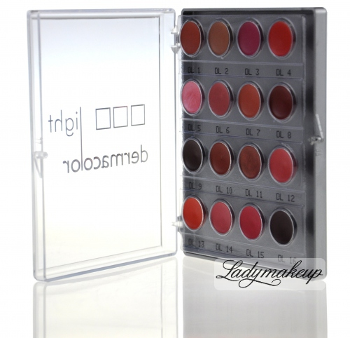 Kryolan - Light Dermacolor - Mini paleta szminek do ust